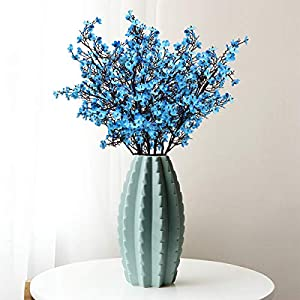 Baby Breath Gypsophila Artificial Flowers, Babies Breath Flowers Bush Artificial Gypsophila Silk Silica Real Touch Blooms for Wedding Bridal Party DIY Home Floral Arrangement Decor, 10 Bundles, 19.7'' 3