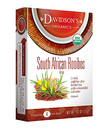 Davidson's Tea South African Rooibos, 8-Count Tea Bags , 0.42 Oz (Pack of 12)