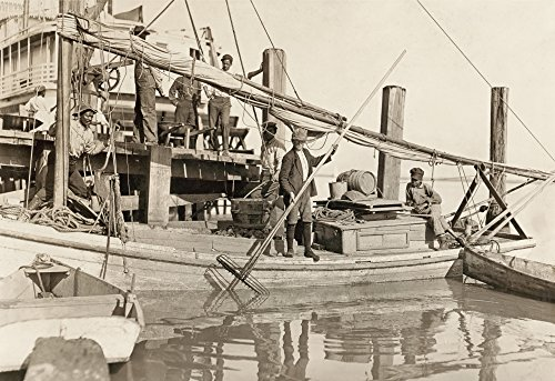 Hine Oyster Fishing 1909 Nmen And Two Boys Aboard An Oyster Fishing Boat In Apalachicola Florida Photograph By Lewis Hine January 1909 Poster Print by (18 x 24) (Best Oysters In Apalachicola)