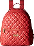 LOVE Moschino Women's Fashion Quilted Backpack Red One Size