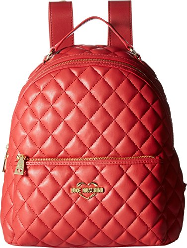 LOVE Moschino Women's Fashion Quilted Backpack Red One Size by Love Moschino (Image #2)