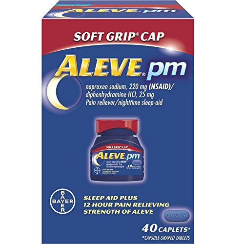 Aleve PM Soft Grip Arthritis Cap Caplets with Naproxen Sodium, 220mg (NSAID) Pain Reliever/Fever Reducer, 40 Count