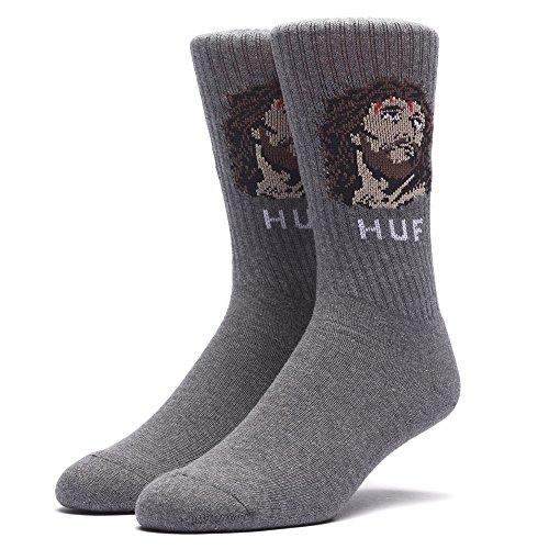 HUF Men's December Dudes Series Sock, Charcoal, - Shops Street Newbury High