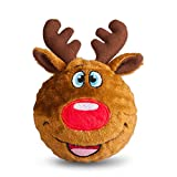 fabdog Reindeer faball Squeaky Dog Toy (Medium)