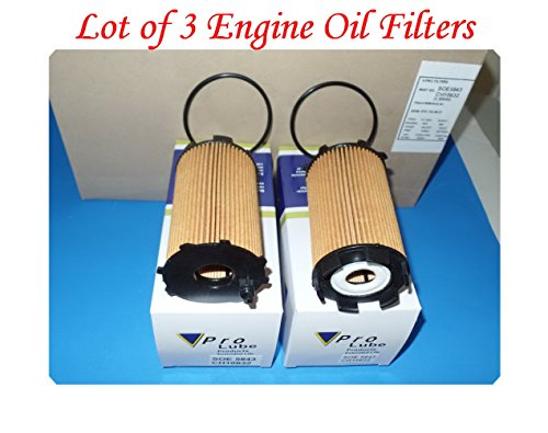 (Lot of 3) SOE5843 ENGINE OIL FILTER MADE IN KOREA FITS: AUDI A6 07-11 A8 07-12 Q7 07-10 R8 08-16 RS4 07-08 RS5 11-16 RS6 2010 S5 08-12 S6 07-11 S8 07-09 VW GALLARDO 09-11 TOUAREG 07-09