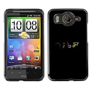 CASEX Cases / HTC G10 / P0Kemon Elements # / Delgado Negro Plástico caso cubierta Shell Armor Funda Case Cover Slim Armor Defender