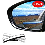 Automotive : Blind Spot Mirror Square LIBERRWAY Wide Angle Mirror Adjustable Convex Rear View Mirror 360°Rotate for All Universal Vehicles Car Stick on Design 2 Pack