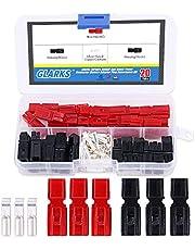 Glarks 20 Pair 30AMP Quick Disconnect Power Terminals Connectors, Red Black Quick Connect Battery Connector Modular Power Connectors Set