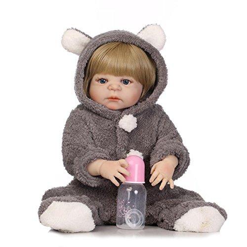 Nicery Reborn Baby Doll High Vinyl 55,9 cm 50-55 cm magnetisch Mund Kinder Freund lebensecht Vivid Boy Girl Spielzeug für Thanksgiving schwarz Freitag grau Kaninchen Weihnachten Tag 079w
