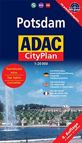 ADAC Stadtpläne, Potsdam, Cityplan (ADAC Citypläne) (Englisch) Landkarte – Folded Map, 1. November 2006 Collectif ADAC Stadtpläne MAIRDUMONT 3826411692