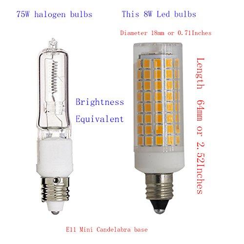Jd E12 Led: E11 Led Light Bulbs Dimmable, 75W 100W JD E11 Mini