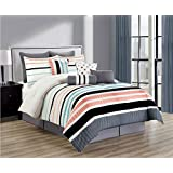Hermoso edredon de 10 pc. RANDI Queen o King size