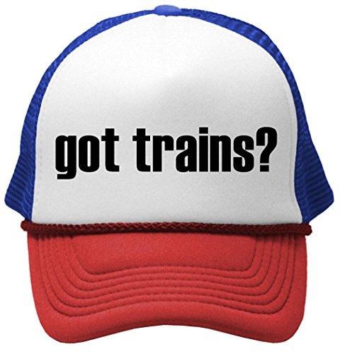 GOT TRAINS? - Unisex Adult Trucker Hat, RWB Train Trucker Hat