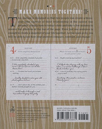Our Q Amp A A Day 3 Year Journal For 2 People Diary border=