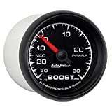 "Auto Meter 5903 ES 2-1/16"" 30 in. Hg/30 PSI Mechanical Vacuum/Boost Gauge"