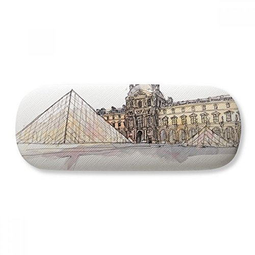 Louvre Museum In Paris France Glasses Case Eyeglasses Clam Shell Holder Storage Box
