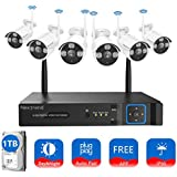 [8CH Expandable] Wireless Security Camera System, NexTrend 8CH IP Security Camera System with 6pcs 960P Outdoor Security Camera, 1TB Hard Drive Pre-Installed, No Monthly Fee, Easy Remote View
