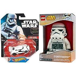 Hot Wheels Stormtrooper Star Wars Vehicle Character Collection / Alarm Clock Figure Car set