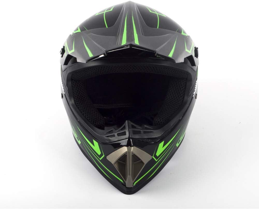 Mask Glasses Cross Motocross Full Face Helmet Childrens Motorcycle Helmet Scooter Unisex BMX ATV Helmet Set Gloves