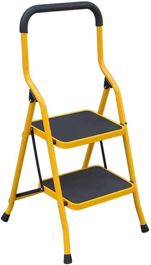 Yuhao Escalera Plegable para Adultos y niños, portátil, para reposapiés, Escalera, Estante de Almacenamiento, Soporte de Flores, Amarillo, 2 Niveles: Amazon.es: Hogar