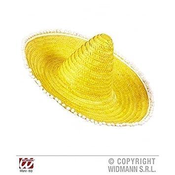 Moderno Sombrero mexicano   Sombrero en amarillo con gracioso Pom en el  borde  Amazon.es  Juguetes y juegos 763c123fae0