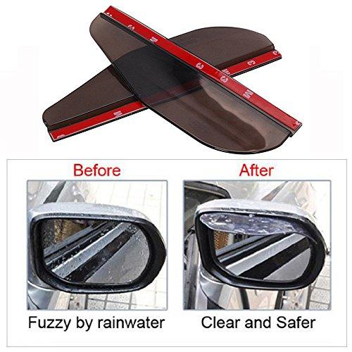Universal Rear View Side Mirror Rain Board Sun Visor Shade Shield For Most All Cars