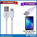 Syrox 20-Pack USB Type-C Cable, Reversible 4 ft Durable Fast Charging for Samsung Galaxy Tab Active 2, Samsung Galaxy Note 8, S8 Plus, LG V30, V20, G6, G5, Google Pixel, 6P, Nintendo Switch and All