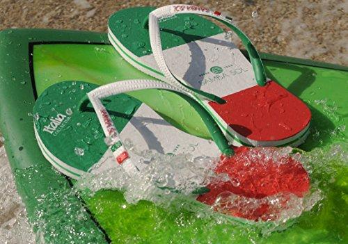 Samba Sol Heren Vlag Collectie Flip Flops - Modieus En Comfortabel. Trendy En Klassieke Sandalen Voor Heren. Italië