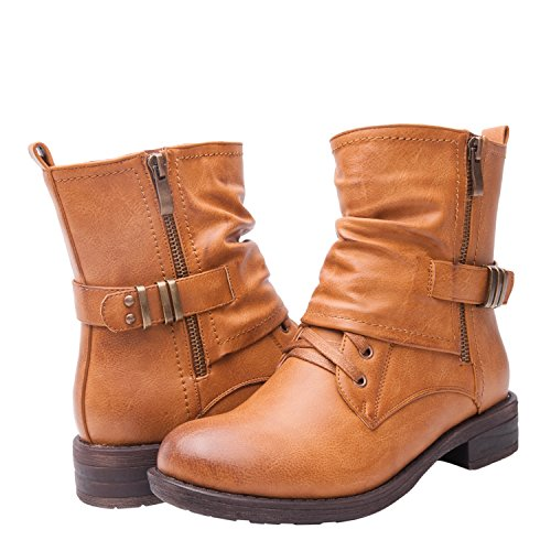 Women's KadiMaya1601-4 Boots 7.5M, CAMEL02 (Womens Boots Iv)