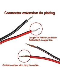 10 pares DC Power Pigtail Cable de 12 V 5 A macho hembra conectores DC Cable para cámara de seguridad CCTV adaptador de alimentación conectores