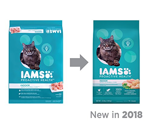 Iams PROACTIVE HEALTH Indoor Weight and Hairball Care Dry Cat Food, (1) 22 Pound Bag, Real Chicken in Every Bite by Iams (Image #5)