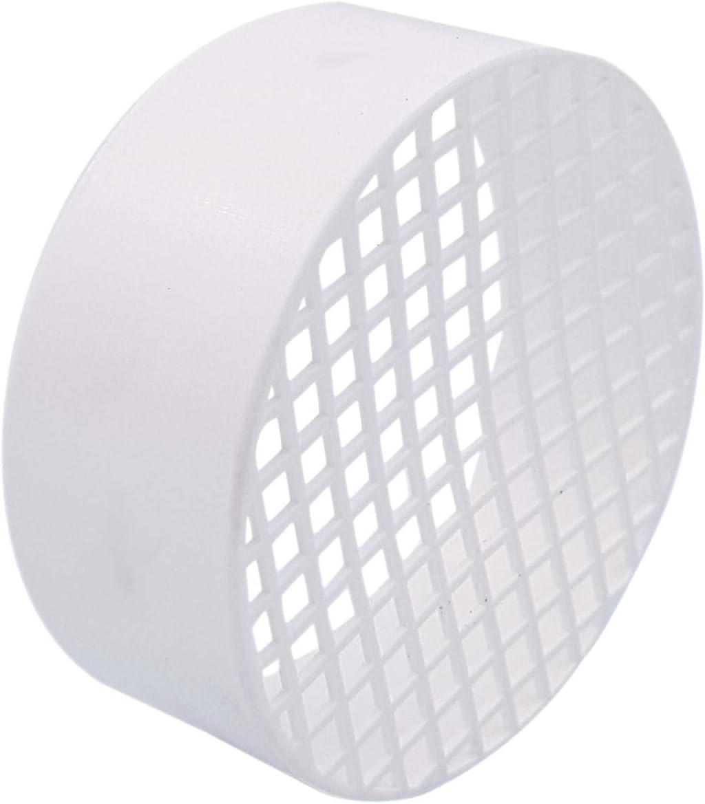 Tygerix - Terminal horizontal con rejilla antiintrusión de polipropileno, diámetro 80 mm, aspiración de aire + grosor + resistencia, la parte superior