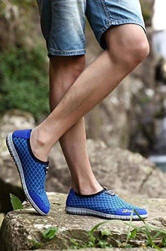 Zapatos Transpirables Verano Casuales Redondos Pie Para Red Hombres Suelo Pedal De Net Lazy Redes Zapatillas Un Person Azul Surf Los Claro rOrEqn6d1x