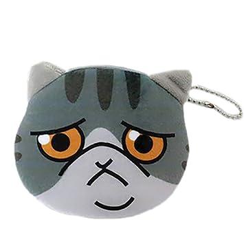 gespout Mini Monedero de mujer gato 3d ensamblados cartón animado bolsa, auriculares, llaves, monedas ensamblados de archivo, puede transportar: Amazon.es: ...