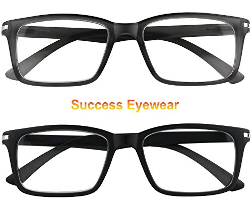 Reading Glasses Set of 2 Fashion Quality Spring Hinge Readers Men and Women Glasses for Reading
