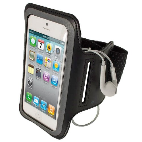 G4GADGET® Slim Fit Black Running Armband Case Cover for Apple Iphone 4s/4