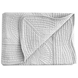 AshopZ Lightweight All Weather Embossed Quilt for Babies and Infant, Grey, 36 inches x48 inches