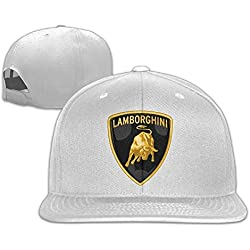 346a2bfa9dbbd MaNeg Lamborghini Logo Unisex Fashion Cool Adjustable Snapback Baseball Cap  Hat One Size White. amazon.com