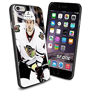 Chicago Blackhawks NHL, WADE1324 Hockey iphone 4 4s inch Case Protection Black Rubber Cover Protector