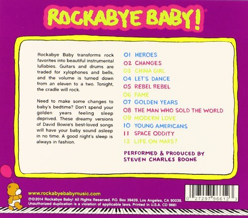 Rockabye Baby! Lullaby Renditions of David Bowie by Rockabye Baby! (Image #1)