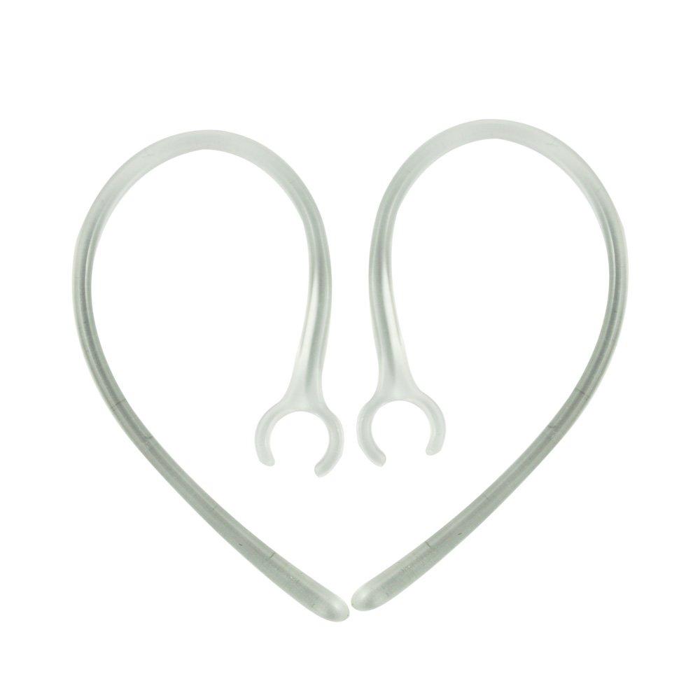 SODIAL(R) Ganchos de Auriculares Orejas para Bluetooth 2-Negro, 2-Transparente (6-Tapon de Espuma)