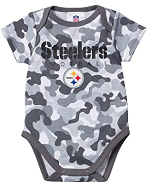 Baby Boys Pittsburgh Steelers Camo Bodysuit