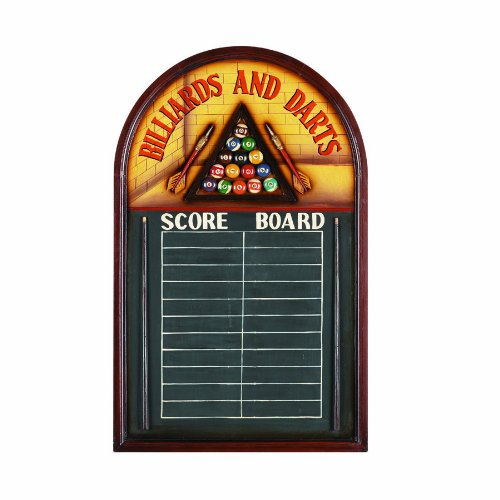RAM Gameroom Products Pub Sign with Scoreboard, ''Billiards And Darts - Score Board'' by RAM Gameroom