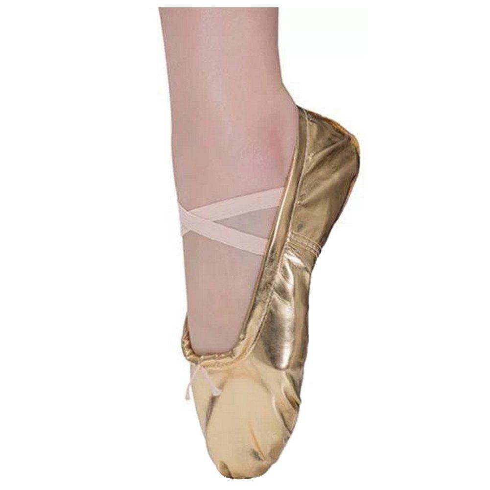 Ballettschuhe Kinder Ballettschläppchen Mädchen Ledersohle