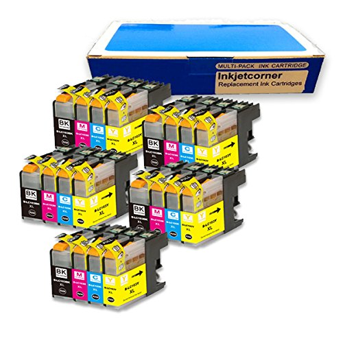 Inkjetcorner 20 Pack Compatible Ink Cartridge for Brother LC101 LC103 BLC103 MFC-J245 MFC-J285DW MFC-J450DW MFC-J470W MFC-J650DW MFC-J870DW MFDW MFC-J475DC-J875DW MFC-J4410DW MFC-J4510DW MFC-J4610DW (Shows Accurate Ink Levels)