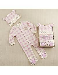 Plaid Fleece Pajama Gift Set, Pink