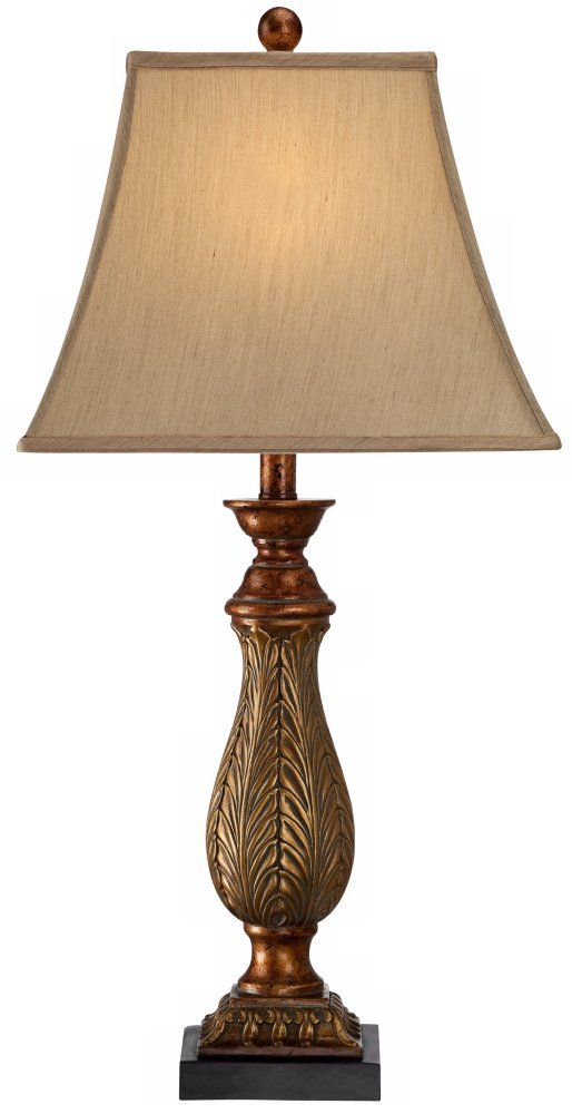 Set of 2 two tone gold 29 high traditional table lamps amazon aloadofball Images