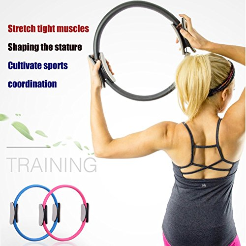 Infinal Pilates Ring Fitness Magic Circle Dual Grip Yoga Resistance Ring Perfect for Pilates,Yoga,Body Exercise Workout