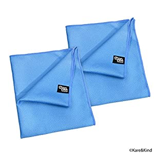 Large 20x16 Inch Microfiber Cleaning Cloth (2 Pack) for Polishing Stainless Steel and Glass to a Perfect Shine - Requires No Cleaning Detergent - Ideal for Kitchen Appliances, Windows, Screens, etc