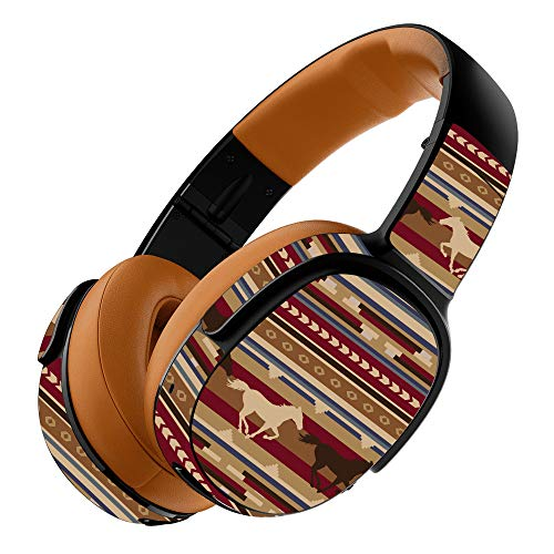 (MightySkins Skin Compatible with Skullcandy Crusher 360 Wireless Headphones - Western Horses   Protective, Durable, and Unique Vinyl wrap Cover   Easy to Apply, Remove   Made in The USA)